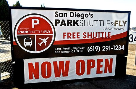 San Diego SD Park Airport Shuttle and Fly